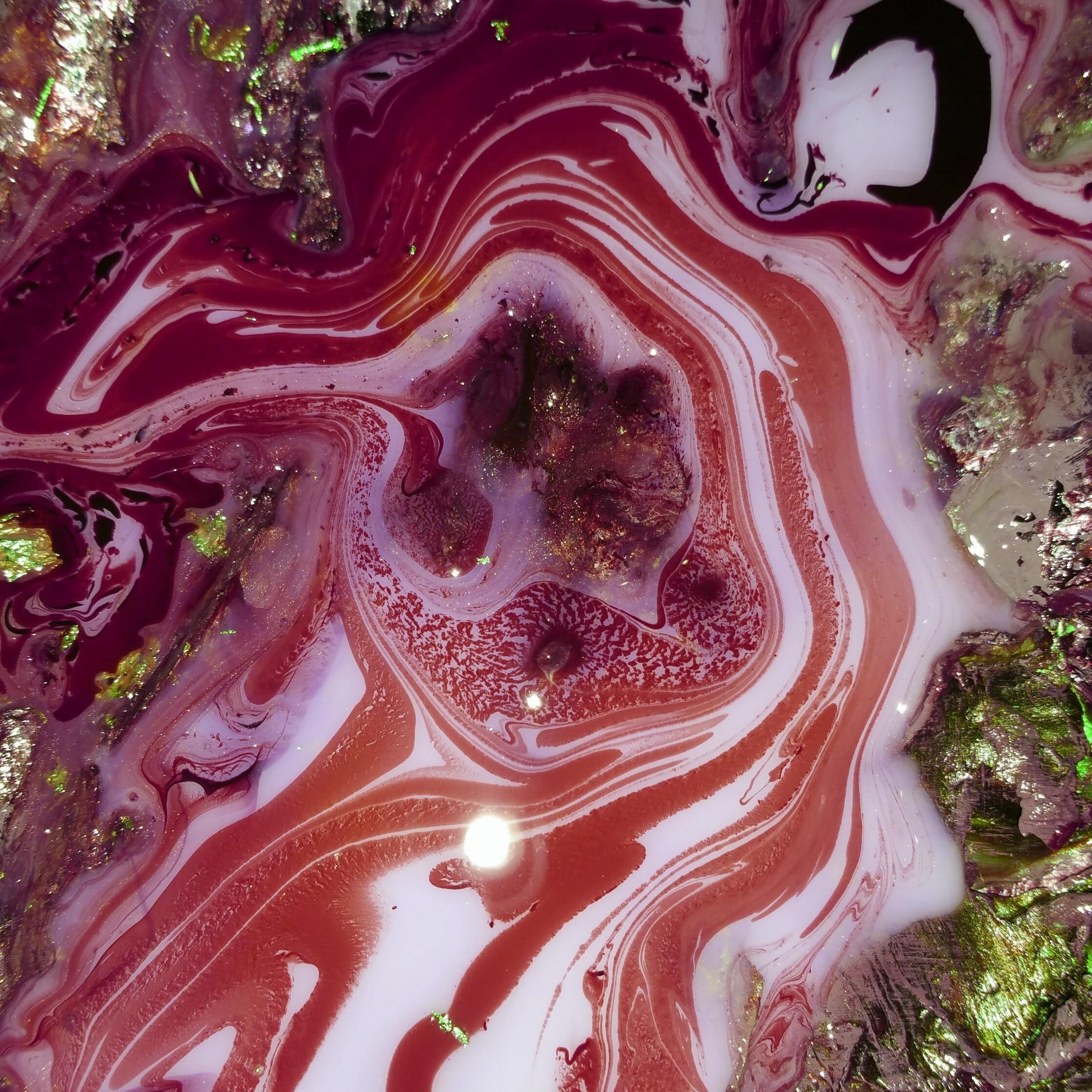 Contact - Ruby Runs Deep acyrlic art